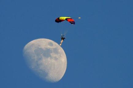 L'homme sur la lune!