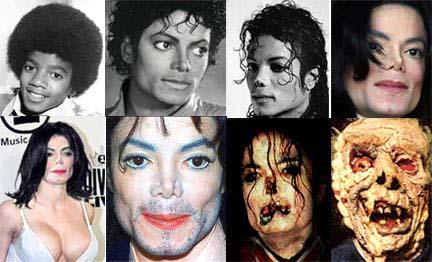 L'évolution esthétique de MichaelJackson
